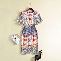Лучшее качество Новое модное женское осеннее платье 2018 года люксовый бренд Европейский дизайн зимнее стильное платье