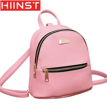HIINST Backpacks for girls teenagers softback backpack female leather school Rucksack Shoulder Satchel Travel mini Bag Y7127