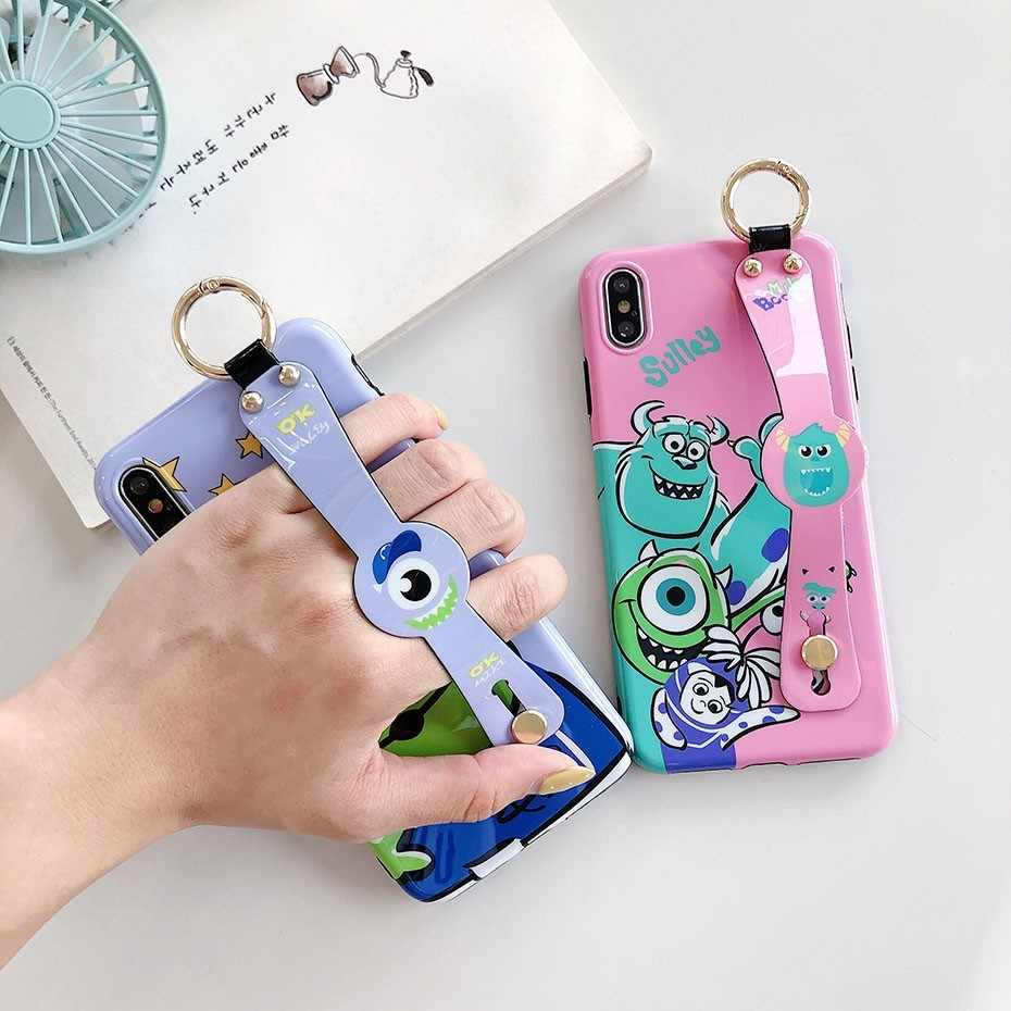 Аниме Чехол для iPhone XS Max XR X Toy Story Monsters университетский ремешок на запястье кронштейн чехол для iPhone 7 8 6 6S Plus чехол для телефона