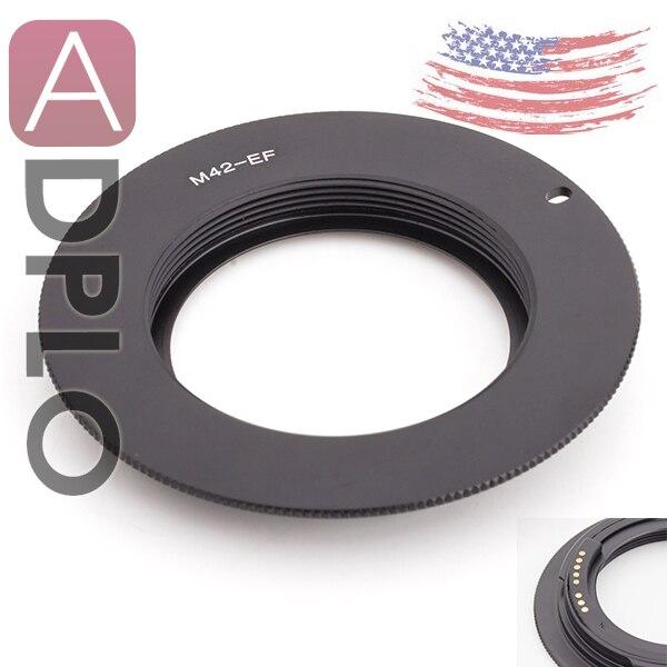 Pixco GE-1 AF Confirm Lens Adapter Suit for M42 mount Lens to Canon 7D MarkII 5D MarkIII 40D 30D 100D 700D better than EMF