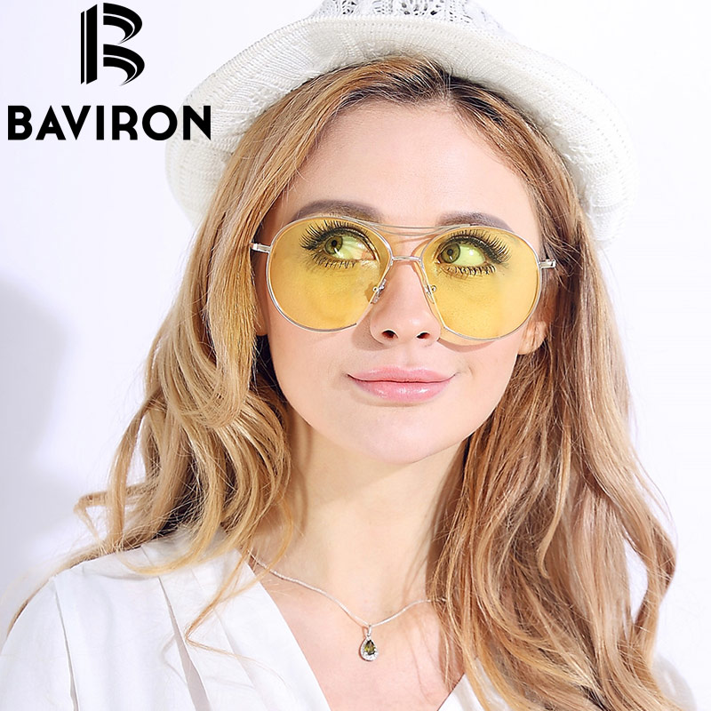 BAVIRON Brand Women Sunglasses New Arrival Top Sale Semi Round Fashion Style Sunglasses for Women Travelling