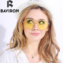 BAVIRON Brand Women Sunglasses New Arrival Top Sale Semi-Round Fashion Style Sunglasses for Women Travelling Glasses B989NP