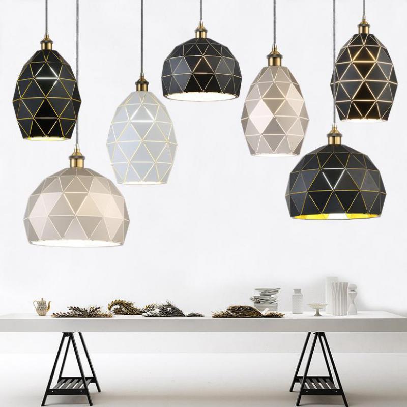 Modern Geometric Iron Hanging Lighting pendant lights for Bar Cafe Restaurant lighting shop window home led pendant lamp lustres цена