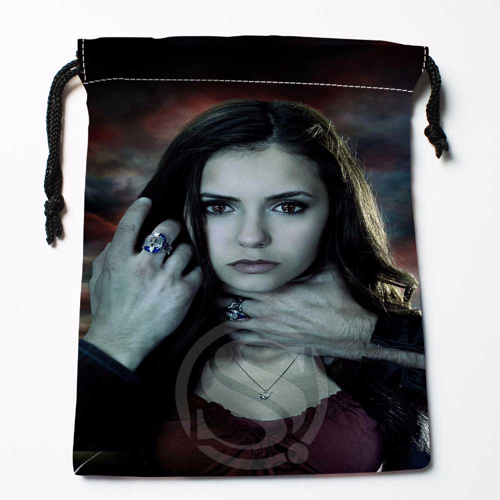 Fl-Q63 New The Vampire Diaries &1 Custom Logo Printed receive bag Bag Compression Type drawstring bags size 18X22cm 711-#F63