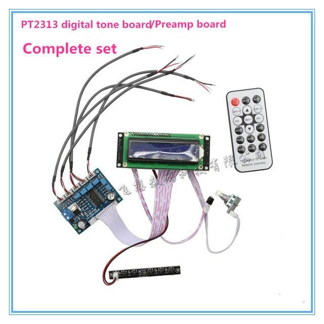 US $15 29 15% OFF Free Shipping DC9 24V PT2313 Digital Soundboard  Preamplifier Board (Full Set) Siemens Audio Coupling Capacitors-in  Amplifier from