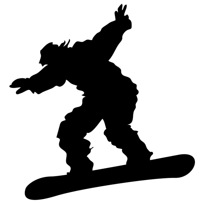 CS 986 16 15cm snowboarder funny car sticker vinyl decal silver black for auto car stickers styling car decoration in Car Stickers from Automobiles Motorcycles