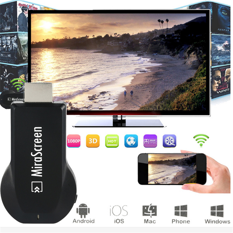 Google OTA Dongle WiFi Affichage Récepteur DLNA Airplay Miracast Airmirroring Mira Écran Pour iPhone 6 s 7 8 plus Android smartphone