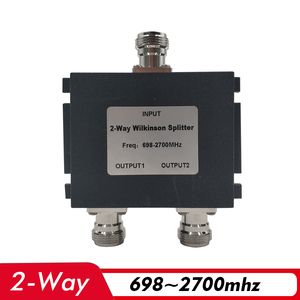 Image 1 - 2 Way Power Splitter 698~2700MHz N Female Power Divider Connecting 2G 3G 4G Cell Phone Signal Booster Repeater and Antenna Cable