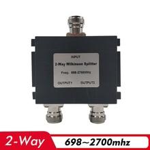 Divisor de potencia de 2 vías, 698 ~ 2700MHz, divisor de fuente de alimentación hembra N, conexión de 2G, 3G, 4G, amplificador de señal de teléfono, repetidor y Cable de antena