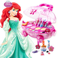 Disney Princess Makeup set Fashion Car toy modeling Toys girls water soluble Beauty pretend play for kids birthday gift