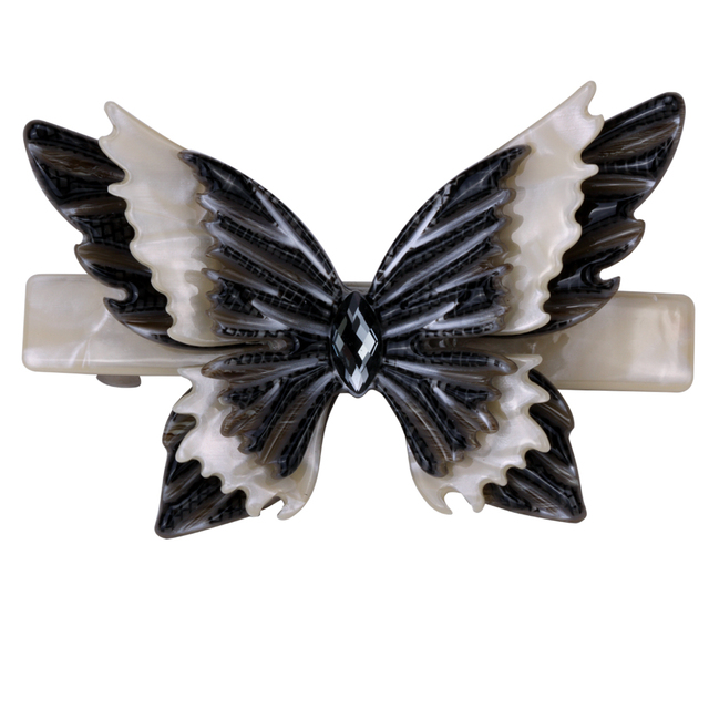 Big butterfly hair barrette clip for women girls austrian crystal jewelry wedding accessories HB12 wholesale dropship