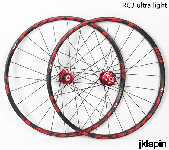 <font><b>RT</b></font> RC3 MTB mountain bike 26inch ultra light wheels 5 peilin sealed bearing disc wheel <font><b>wheelset</b></font> 27.5inch Rim Rims image