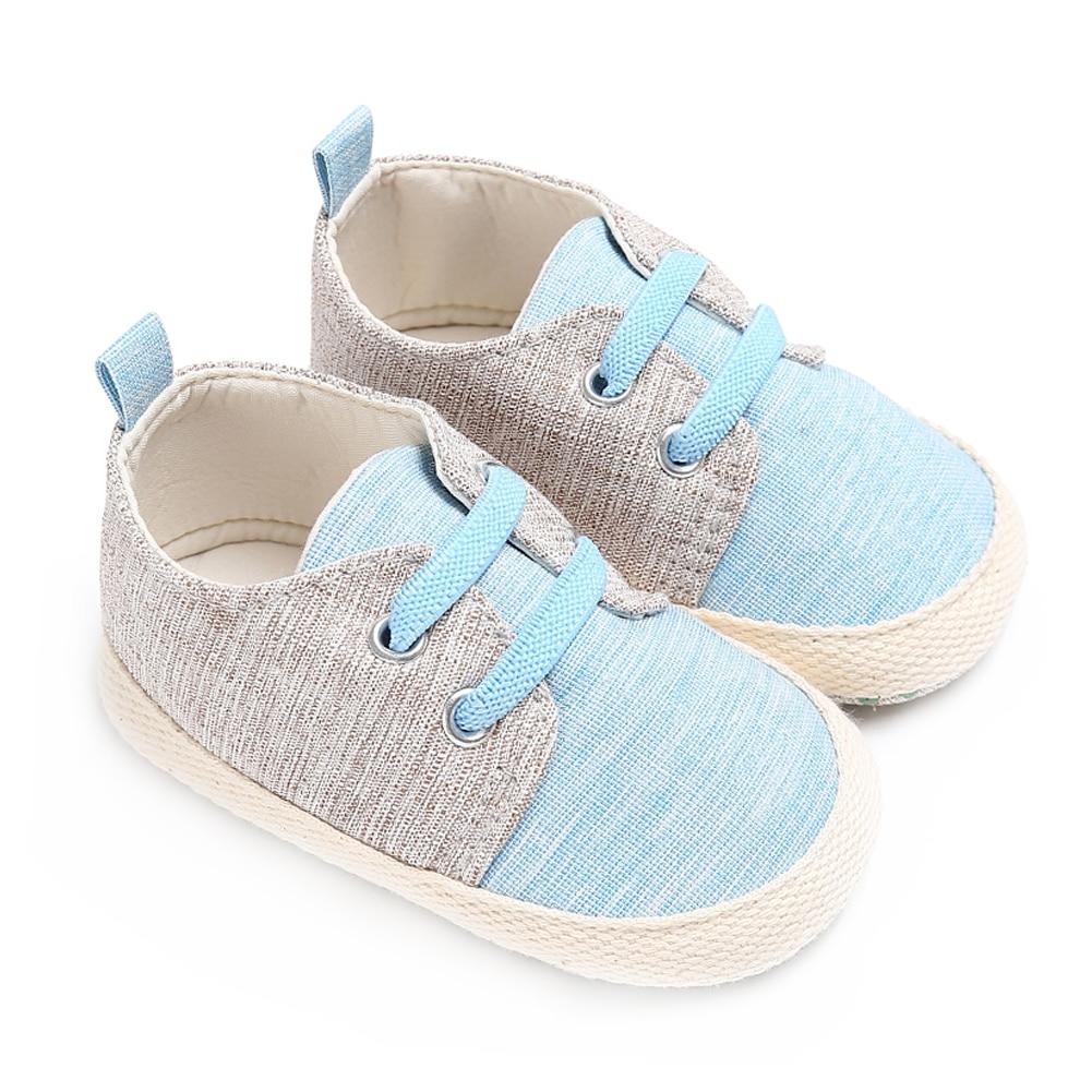 Merk Baby Boy Wieg Schoenen voor Meisjes Elastische Band Pasgeboren - Baby schoentjes - Foto 2