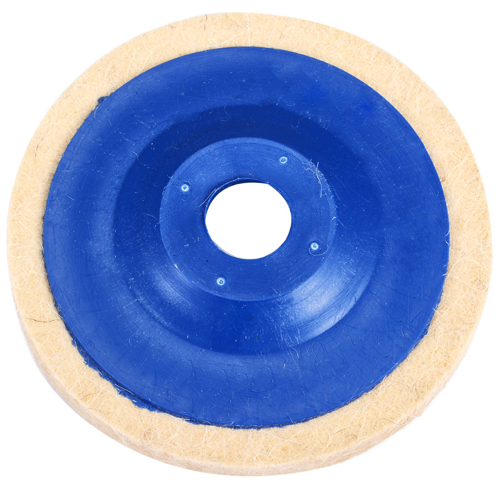 Image 2 - 3pcs 4 Inch Wool Polishing Pads Buffing Angle Grinder Wheel Felt 100mm Polishing Disc Pad Set Useful Abrasive Tools-in Abrasive Tools from Tools