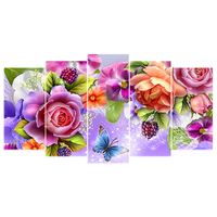 Zhui Star 5D DIY Full Square Diamond Painting Rose Butterfly Multi Picture Combination Embroidery Cross Stitch