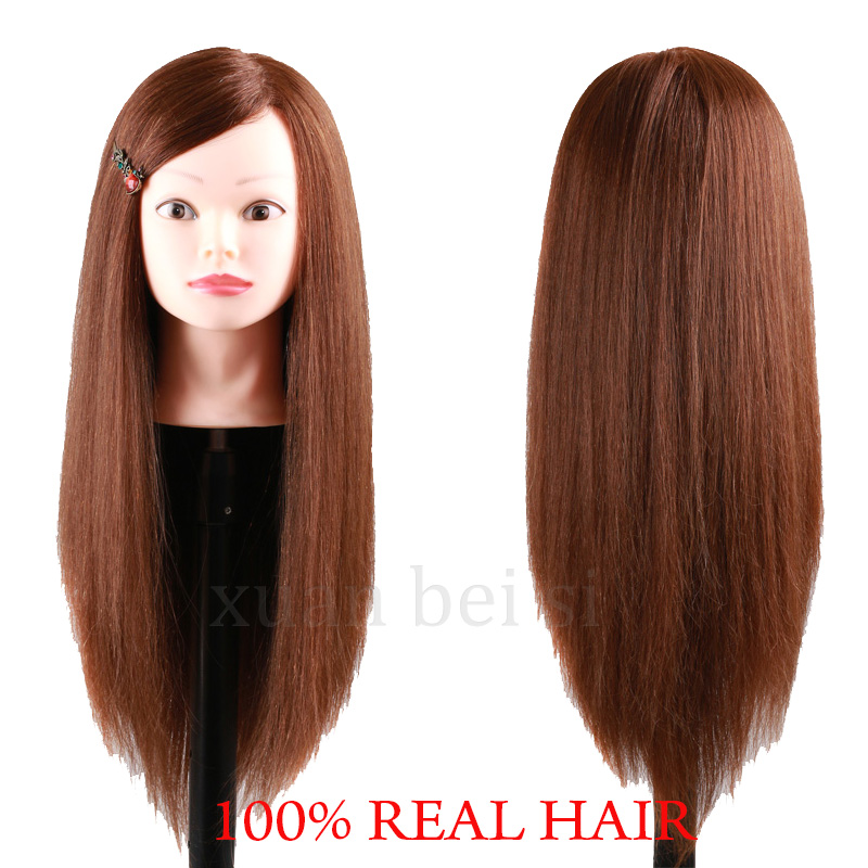 "24"" Long Hair Mannequin Head Nice Mannequin Head With Hair Manequim Manikin Professional Hairdressing Training Head For Academy"