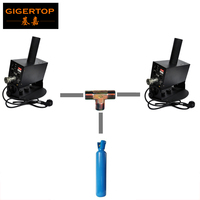 TIPTOP Single Pipe Swing Co2 Jet Machine Two Device Share One Co2 Gas Tank Supply CE ROHS Certification DMX 2 Channel Stand Jet