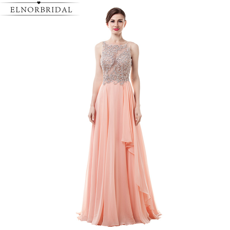 Vestido Formatura Coral Prom Dress Long Sexy Birthday Party Dresses Sheer A Line Special Occasion Evening Pageant Gowns