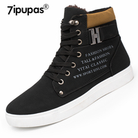 7ipupas Street Style A862 High Top Winter Mens Shoes Warm Fur Ankle Sneakers Men Casual Shoes