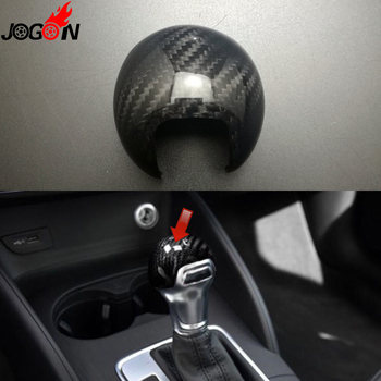 Real Carbon Fiber For AUDI A3 S3 8V 2013 2014 2015 2016 2017 AT Car Styling Gear Shift Knob Head Cover Trim Accessories