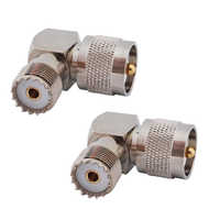 RF coaxial coaxial adapter UHF male PL259 to female so239 right angle connector PL-259 male to SO-239 female 90 degree
