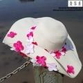 KIDS Large Brim handmade Floral Sun Straw Hats Parent-child Summer Big Foldable Raffia Hats Women Wide Brimmed Caps