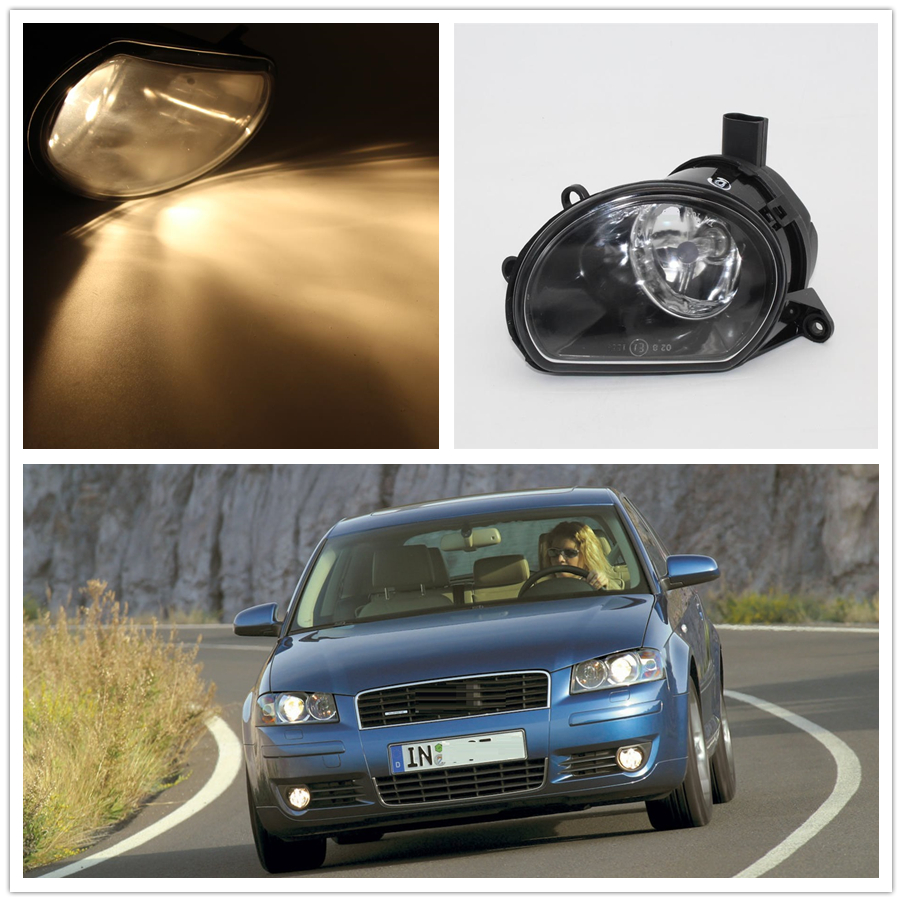 For Audi A3 2003 2004 2005 2006 2007 2008 Car-styling Front Halogen Bumper Fog Lamp Fog Light Right Passenger Side front bumper fog lamp grille led convex lens fog light angel eyes for vw polo 2001 2002 2003 2004 2005 drl car accessory p364