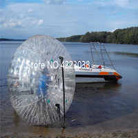 Free Shipping and Pump 2.5m Inflatable Zorb Ball Giant Inflatable Balloons Outdoor Transparent Ball Human Zorb Ball