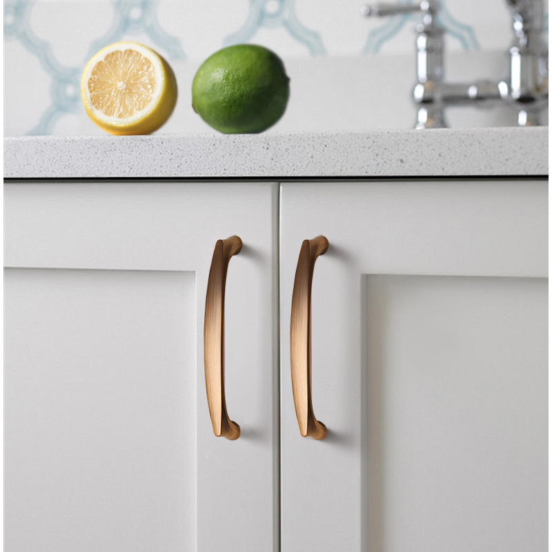 AOBT Kitchen Cabinet Knobs Handles Black Bronze 96mm 128mm Furniture Handle for Cabinet Drawer Pulls Aluminum Alloy Handle 6026 in Cabinet Pulls from Home Improvement