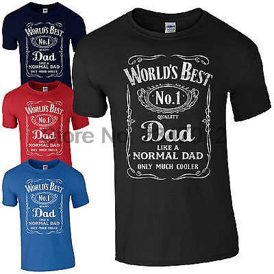 8214cd8a World's Best Dad T-Shirt luxury brand tshirt Gifts for Dads Fathers Day  Present No.1 dad cotton fashion t-shirts for mens t