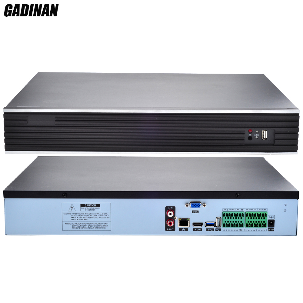 GADINAN H.265/H.264 32CH*4MP/24CH*5MP CCTV NVR Two-way Audio Security Network Recorder IP P2P NVR ONVIF 3G WIFI CMS 4 HDD Ports jilly kingdom summer style girls clothing set baby girls clothes set lovely toddler girl tops pants girls suit kids clothes 3 7t