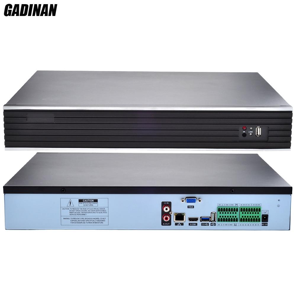 GADINAN H.265/H.264 32CH * 4MP/24CH * 5MP CCTV NVR enregistreur réseau de sécurité Audio bidirectionnel IP P2P NVR ONVIF 3G WIFI CMS 4 Ports HDD-in Enregistreur de vidéosurveillance from Sécurité et Protection    1
