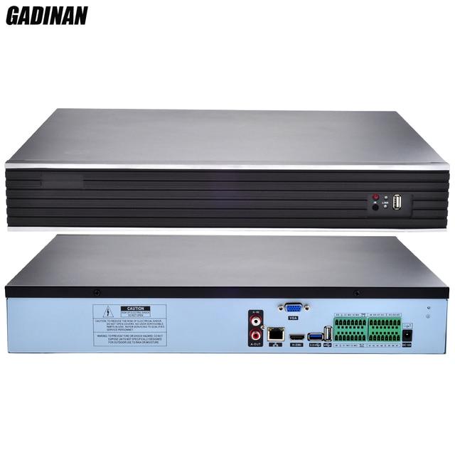 GADINAN H.265/H.26432CH * 4MP/24CH * 5MPกล้องวงจรปิดNVRสองทางเสียงการรักษาความปลอดภัยบันทึกเครือข่ายIP P2P NVR ONVIF 3กรัมWIFI CMS 4 HDDพอร์ต