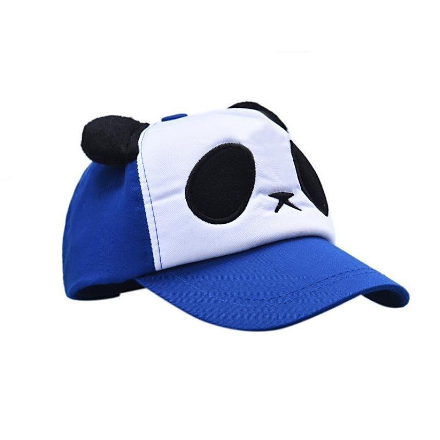 Ребенок Обувь для мальчиков Обувь для девочек хлопок милые панды Бейсбол Кепки шляпа синий 100% новый бренд и высокого качества от 0 до 3 месяц...