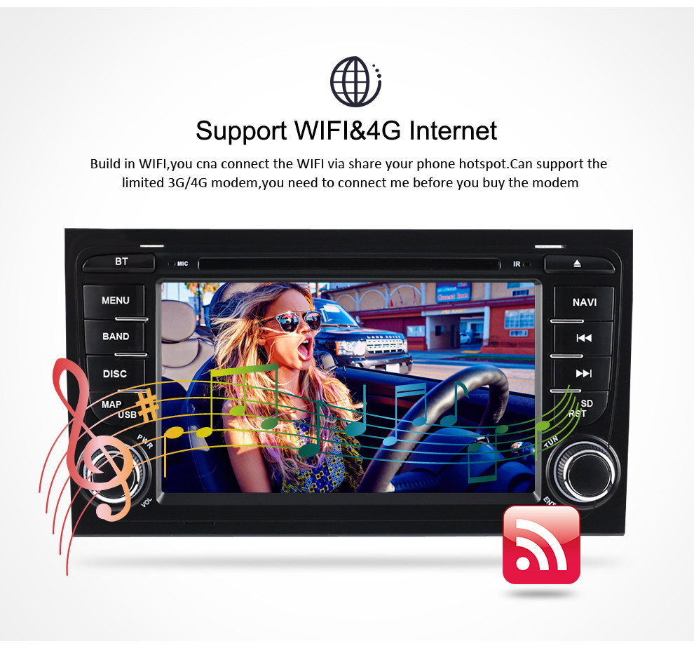 Image 4 - 7'' Android 9.0 car DVD Radio Stereo For Audi A4 S4 2002 2003 2004 2005 2006 2007 2008 GPS Navigation WIFI Video Player Headunit-in Car Multimedia Player from Automobiles & Motorcycles