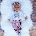 4 pcs Bonito Infnat Meninas Do Bebê Set Roupas Roupa Ins Gorros Chapéu Do Bebê Do Desenhador Headband do Algodão Macacão Macacão Calça Legging 0-2A
