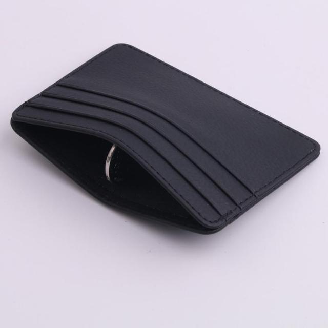 2018 small wallet card women Unisex Fashion Women Lichee Pattern Bank Card Package Coin Bag Card Holder 4.28 1