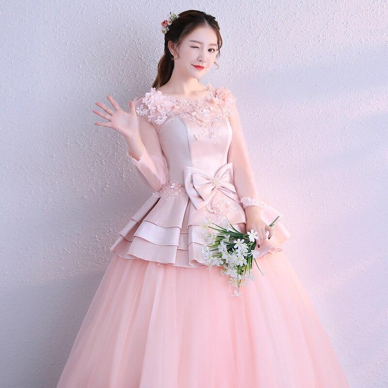 long sleeve bowknot waist ball gown fairy medieval Renaissance Gown princess Costume Victorian Marie Antoinette/ Belle Ball
