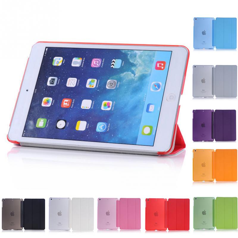 Smart Cover Case For iPad mini case Wake Up Sleep Leather Stand Cases funda capa For iPad mini 1 2 3 flip cover for ipad