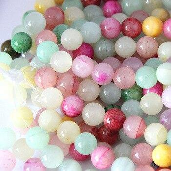 ca32a3496785 1 Strand Lot 4 6 8 10 12mm multicolor Piedra Natural cristal cuentas para  pulseras collar DIY joyería haciendo