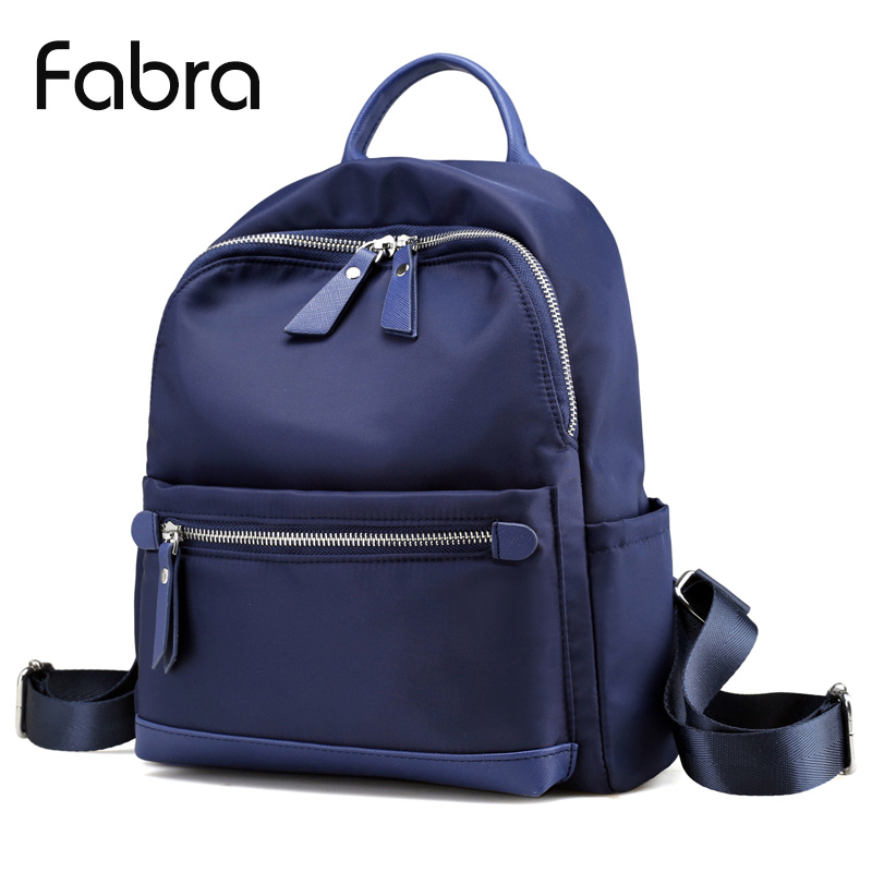 Fabra Women Backpack Waterproof Quality Nylon Backpacks Lady Daily Packs Casual Small Size Travel Shoulder Bag 24x12x31 Cm