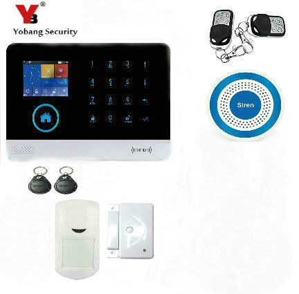 YobangSecurity WIFI GSM RFID Wireless Home Security Alarm System with Wireless Flash Siren Android IOS Smart Phone APP Control жим от плеч bronze gym mnm 003