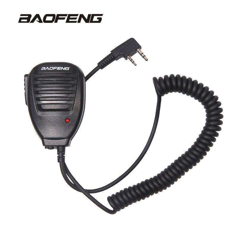 Microfone de rádio Portátil Speaker MIC para Walkie Talkie UV-5R Rádio Em Dois Sentidos Portátil Pofung BaofengUV-5R BF-888S Acessórios