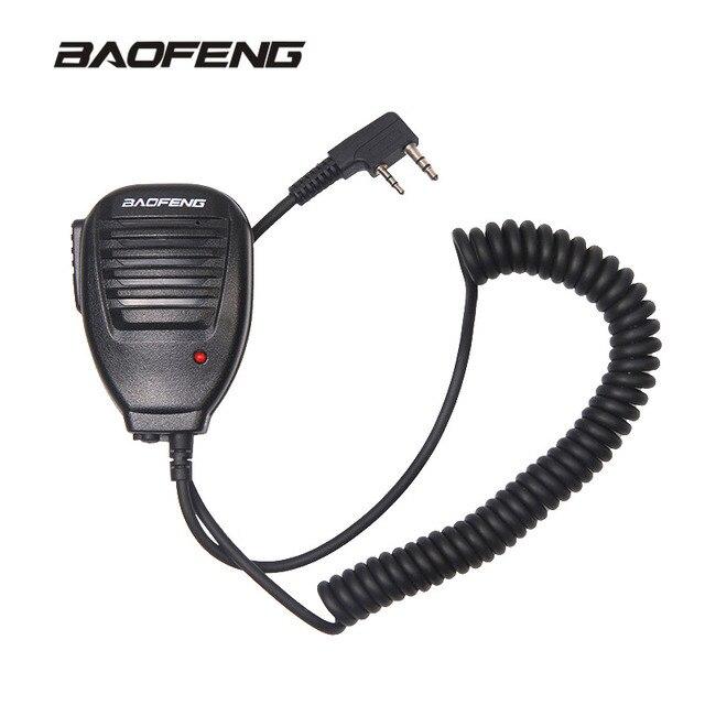 Радио Ручной микрофон динамик микрофон для рации UV-5R портативный двухсторонний радио pofung BaofengUV-5R аксессуары для BF-888S