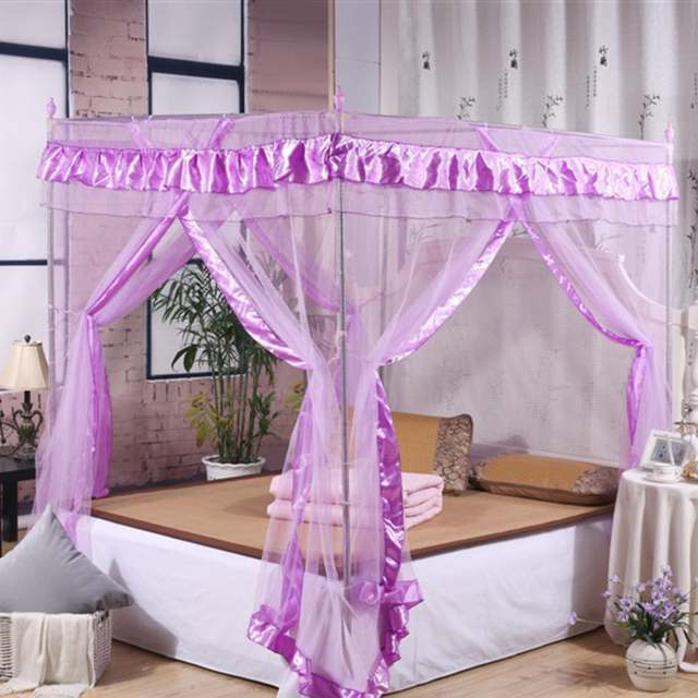 2 Colors Brand New Room Netting Post Bed Canopy Mosquito Net Twin Sizes  Netting