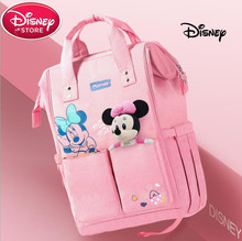 Disney Mickey Minnie Travel Diaper Bag Multifunction Baby Stroller USB Bottle Warmer Mummy Backpack Nappy