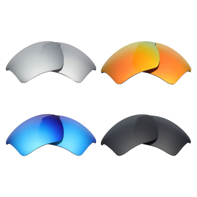 a2c5c98e037 4 Pairs MRY POLARIZED Replacement Lenses for Oakley Half Jacket 2.0 XL  Sunglasses Stealth Black   Ice Blue   Fire Red   Silver