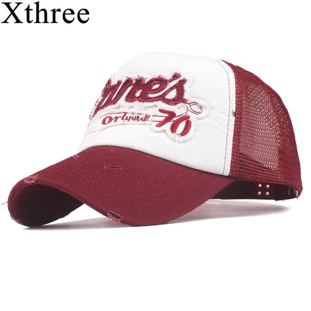 7a68bde1c8f xthree new summer mesh baseball cap fitted hat Casual cap gorras 5 panel  hip hop snapback