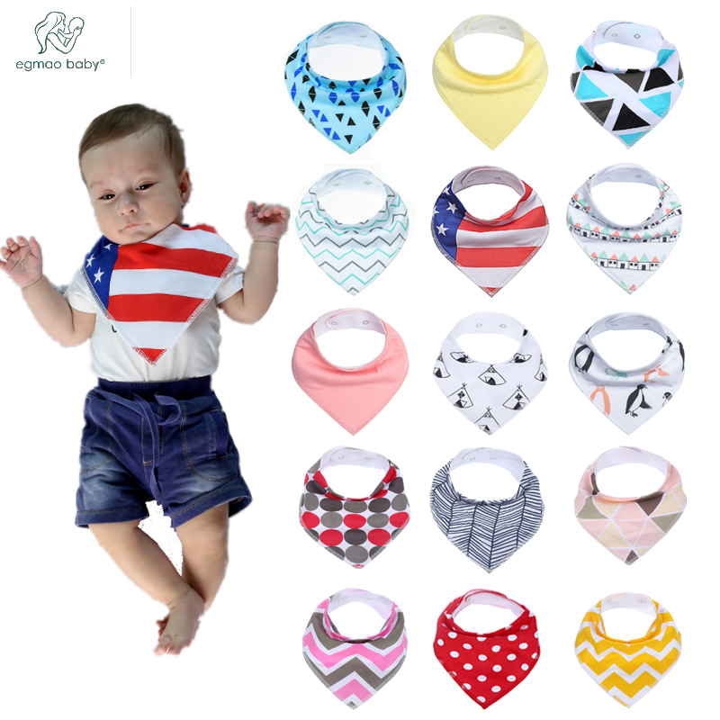 16 Pcs /Set Unisex Baby Bandana Drool Bibs, Super Stylish and Anti Dirty Absorbent 100% Cotton for Newborn Boys Girls Baby Bibs