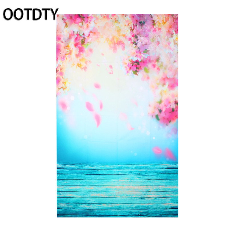 OOTDTY Studio Background Blooming Flower Photo Background Vinyl Studio Photography Backdrops Prop DIY vinyl floral flower newborn backdrops cartoon unicorn photography background studio photo props 5x3ft